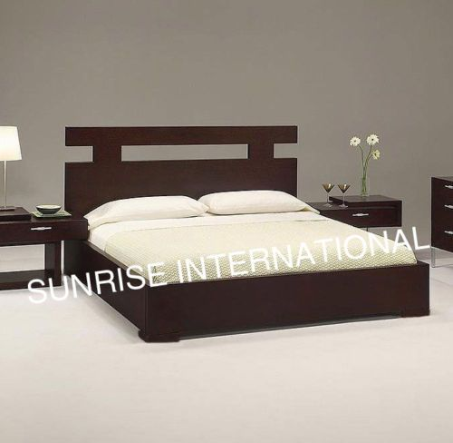 Contemporary wooden bed with storage under mattress - Bed desine double bed ...