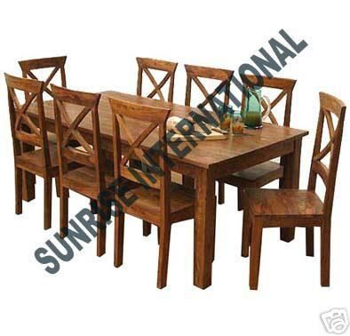FRENCH STYLE WOODEN DINING TABLE WITH 6 CHAIR SET